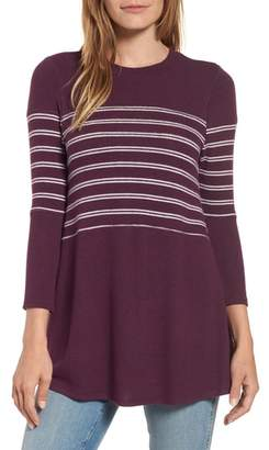 Caslon Stripe Panel Sweater