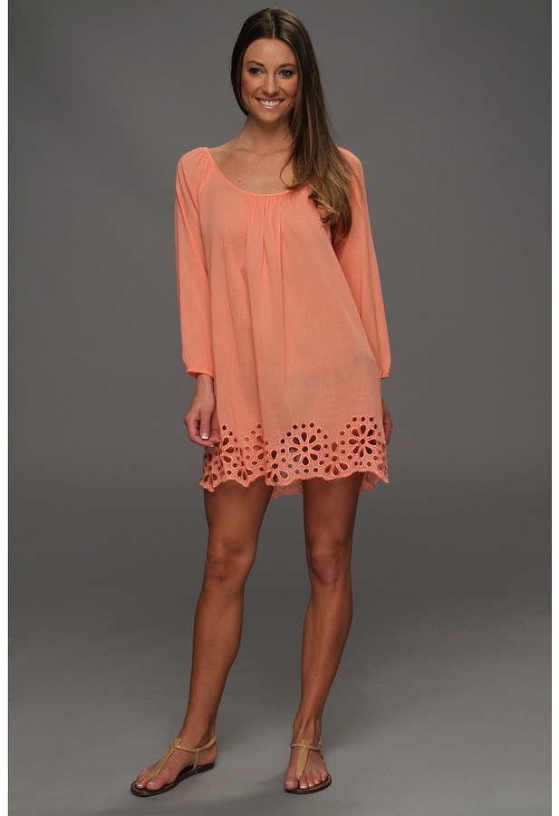 Seafolly Satisfaction Kaftan (Light Coral) - Apparel