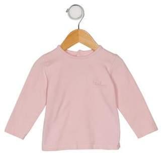 Burberry Girls' Long Sleeve Logo Print Top pink Girls' Long Sleeve Logo Print Top