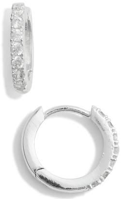 ESTELLA BARTLETT Crystal Pave Huggie Hoop Earrings