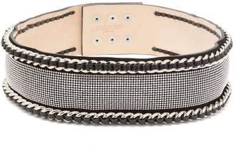 Balmain Chain and strass-embellished waist belt