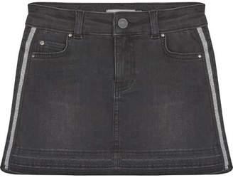 Mint Velvet Washed Black Denim Mini Skirt