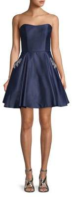 Blondie Nites Embellished Satin Party Dress