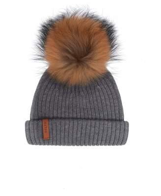 d8f4a71d4ee Bklyn Merino Wool Pom Pom Hat Colour  MID GREY