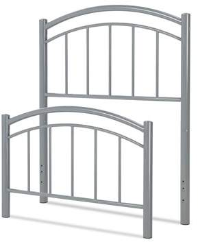 Rails Rylan Fashion Kids Metal Headboard and Footboard Bed Panels with Gently Arced Top and Vertical Spindles, Shadow Grey Finish, Full