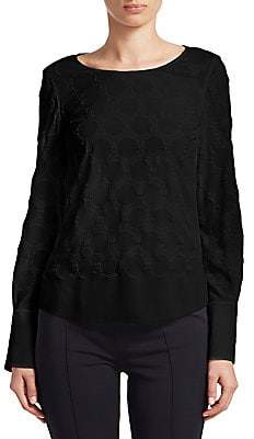 Akris Punto Women's Silky Embroidered Blouse