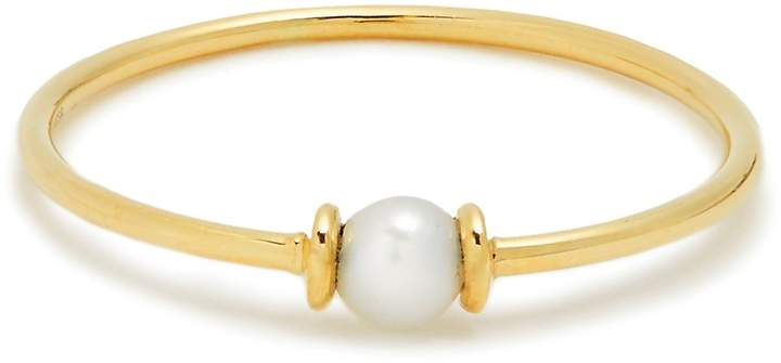 ANISSA KERMICHE Pearl & yellow-gold ring
