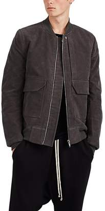 Rick Owens Men's Cotton Moleskin Flight Jacket