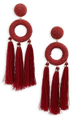 Natasha Seed Bead Tassel Earrings