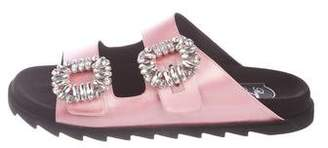 Roger Vivier 2017 Crystal Buckle Sandals w/ Tags