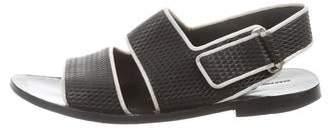 Alexander Wang Debossed Leather Sandals