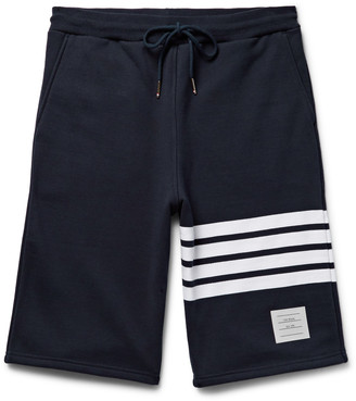 Thom Browne Striped Loopback Cotton-Jersey Shorts $540 thestylecure.com