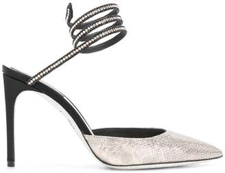 Rene Caovilla studded pointed toe pumps