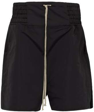 Rick Owens High Waisted Shorts - Mens - Black