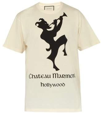 Gucci Chateau Marmont Cotton T Shirt - Mens - White Multi