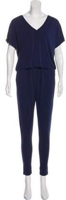 By Malene Birger Open Back Short Sleeve Jumpsuit