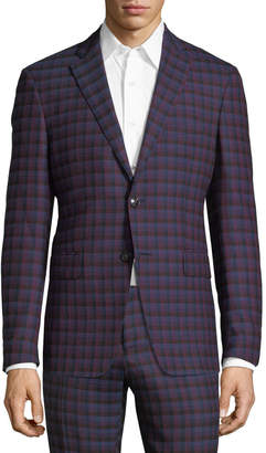 Etro Check-Print Wool Sport Coat