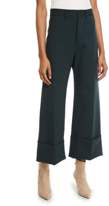 Sea Wool Traditional Classic Cuffed Wool-Blend Pants