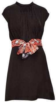 Sandro Hellebore Scarf Belt Dress