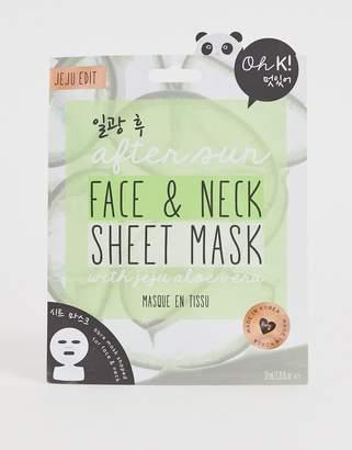 Alöe Oh K! After Sun Face And Neck Sheet Mask with Jeju Vera