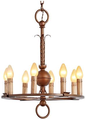 Rejuvenation Romance Revival 8-Light Chandelier w/ Decorative Strap-Work