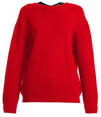 Miu Miu Open Back Cashmere Sweater - Womens - Red