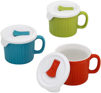 Corningware French White 6-pc. Pop-In Mug Color Set