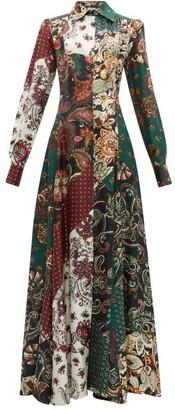 Evi Grintela Evanthia Paisley Print Silk Maxi Shirtdress - Womens - Multi
