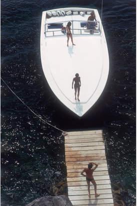 """Slim Aarons """"Speedboat Landing """" Photograph"""