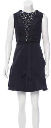 Nina Ricci Belted Mini Dress Black Belted Mini Dress