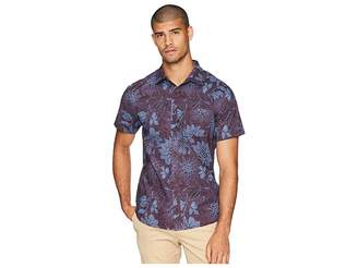 VISSLA Etched Short Sleeve Printed Woven Top