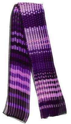 Missoni Silk Geometric Scarf Purple Silk Geometric Scarf