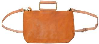 EAZO - Soft Leather Shoulder Bag in Yellow