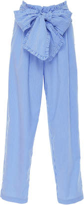 MSGM Paperbag-Waist Cotton-Blend Pants