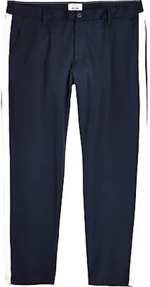 River Island Only and Sons Big and Tall navy tape pants