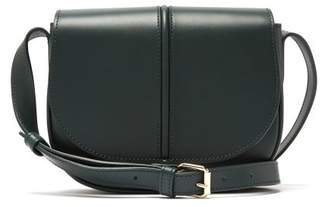 A.P.C. Betty Leather Satchel Bag - Womens - Dark Green