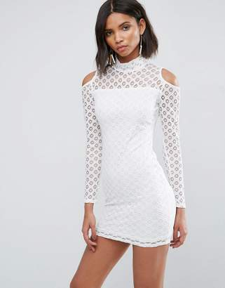 AX Paris Cold Shoulder All Over Lace Dress