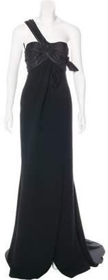 Elie Saab One-Shoulder Silk Gown w/ Tags