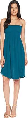 Three Dots Women's Double Gauze Short Loose Dress