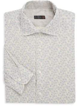 Corneliani Woven Floral Button-Down