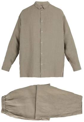 Once Milano - X Toogood Linen Pyjama Set - Mens - Grey