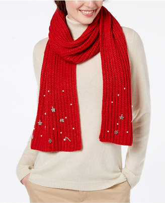 Charter Club Charm-Embellished Scarf, Created for Macy's