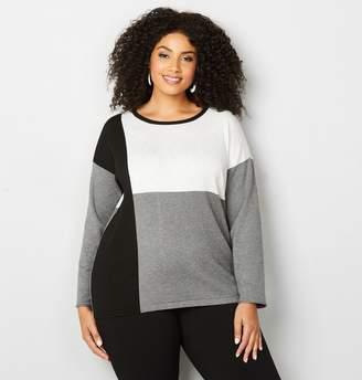 Avenue Plus Size Colorblock Pullover