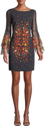 Elie Tahari Esmarella Floral-Print Sheath Dress