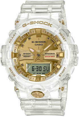 G-Shock Men Analog-Digital Clear Resin Strap Watch 48.6mm