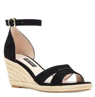 8b483f92eba Black And White Wedge Heel Sandals - ShopStyle
