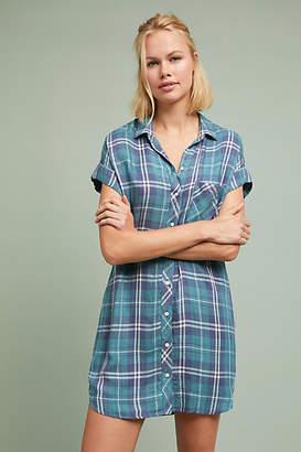 Cloth & Stone Plaid Shirtdress