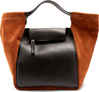 Real Trapeze leather and suede tote