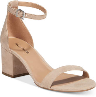 Call It Spring Stangarone Block-Heel Sandals Women's Shoes $39.50 thestylecure.com