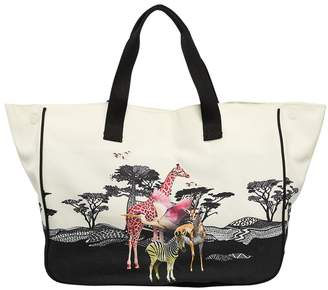 Molo Safari Print Cotton Canvas Tote Bag